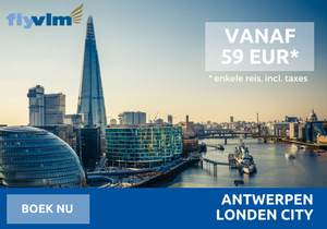 Antwerpen London City met fly VLM